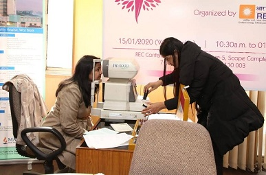 REC Organises Health Camp For Women Employees