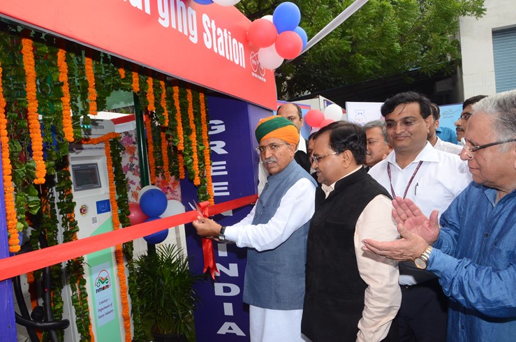 Shri Arjun Ram Meghwal Minister of State for Heavy Industries and Public Enterprises Inaugurated DC-001 Fast Charging Infrastructure