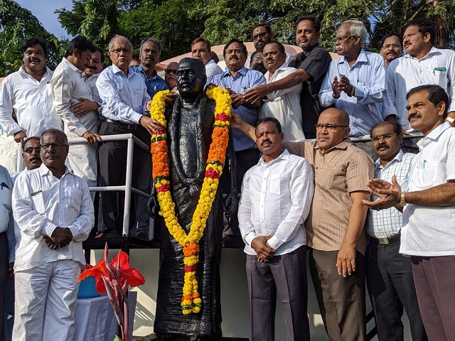 Sri T Amrutha Rao Jayanti celebrated in Ukkunagaram