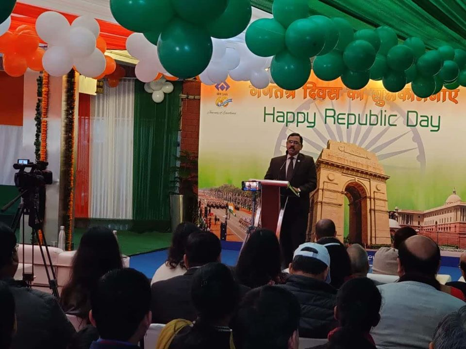 Shri Anil Kumar Chaudhary Chairman SAIL Celebrated Republic Day