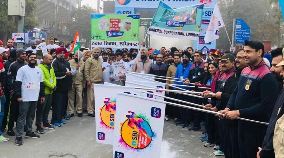 SBI organized a 5 km run against drug abuse