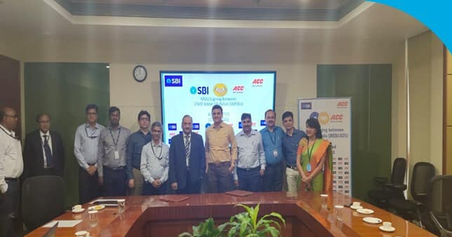 SBI signs an MoU with ACC Limited