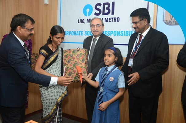 SBI presented Awards of Scholarship to the meritorious wards of the poor