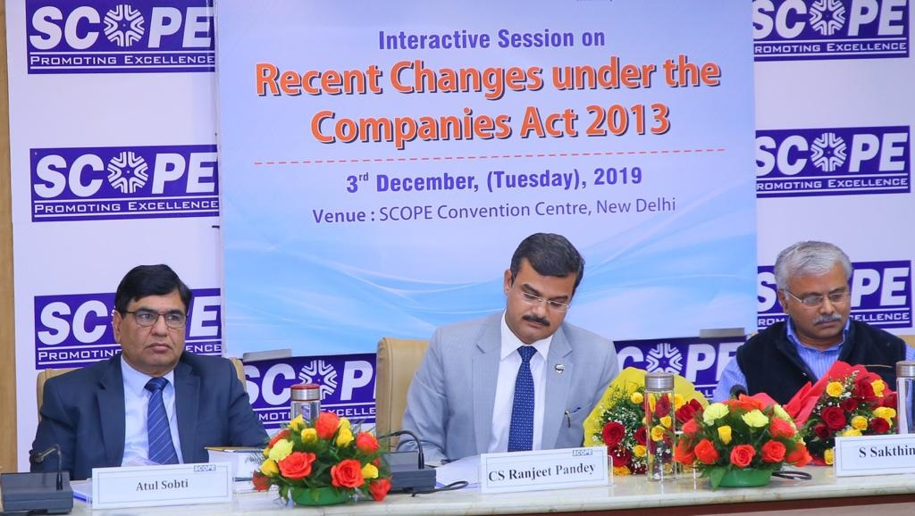 SCOPE and ICSI create awareness on recent changes under the companies act