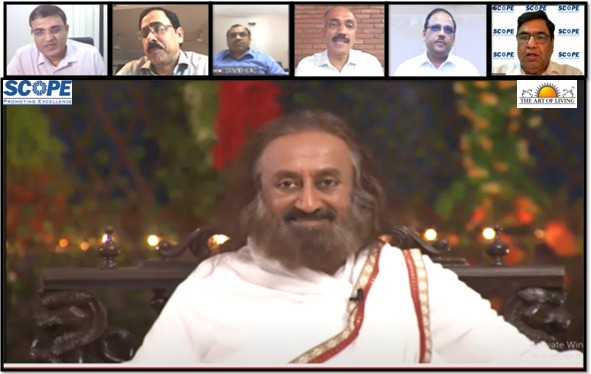 SCOPE Webinar with Gurudev Sri Sri Ravi Shankar Everyone to adapt a Sakaratmak mode