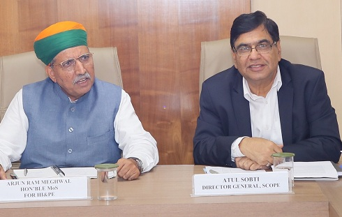 Shri Arjun Ram Meghwal Visits SCOPE Explore new areas of Capacity Building