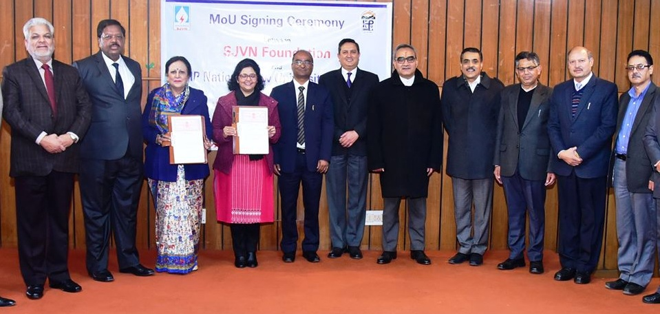 SJVN signed MoU with Himachal Pradesh National Law University