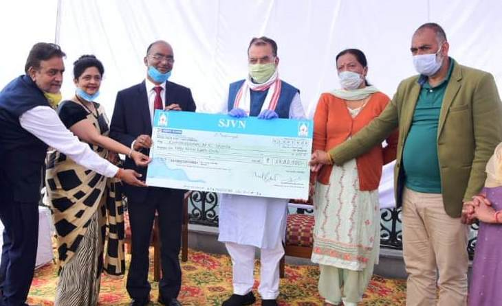 SJVN employees contributes Rs 59 lakhs as reward to Shimla Sanitation Workers