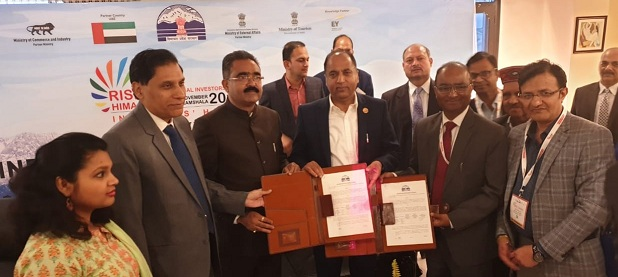 SJVN entered into the MoU with GoHP for 430 MW Reoli Dugli Hydro Electric Project on Chenab basin