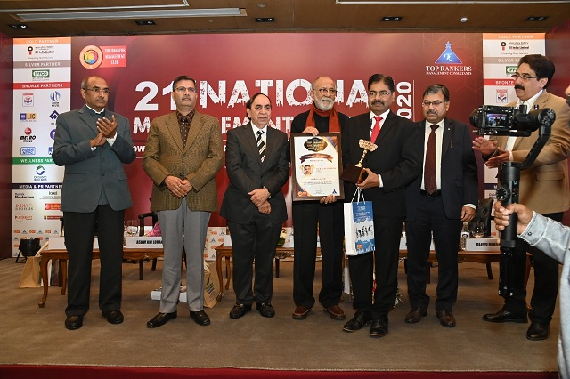 Dr H Purushotham CMD NRDC Receive Top Rankers Excellence Award 2020