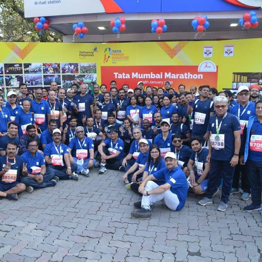 HPites participated enthusiastically in the tata mumbai marathon
