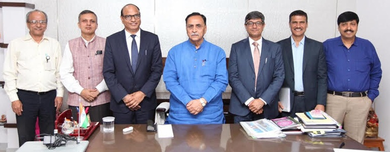 CMD NTPC Meets Chief Minister of Gujarat