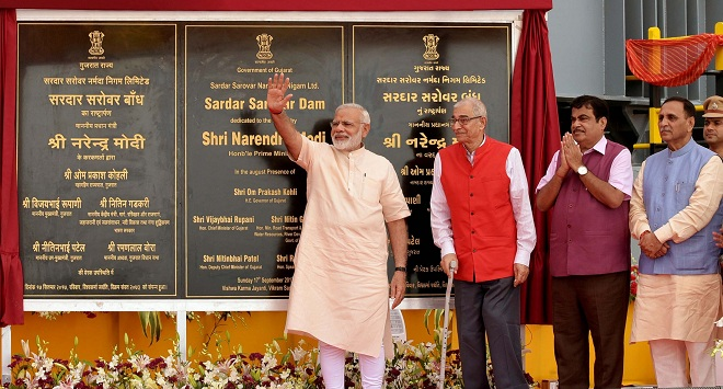 Shri Narendra Modi dedicates the Sardar Sarovar Dam to the nation