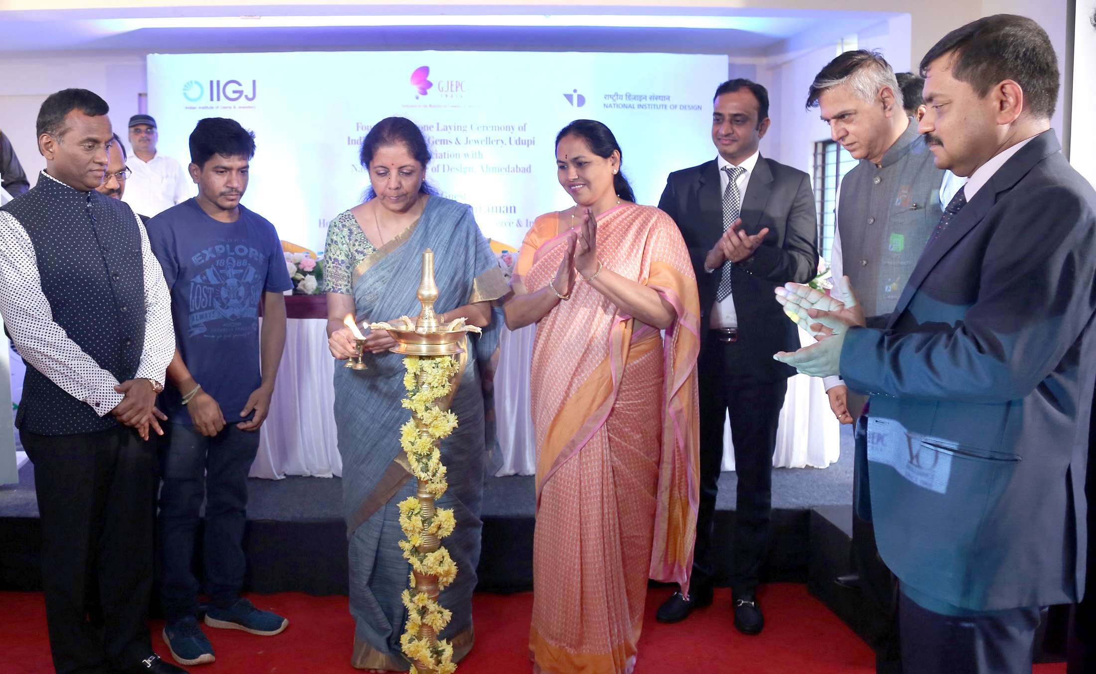 Foundation stone laying for the Indian Institute of Gem and Jewellery