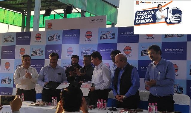 IndianOil Collaborates with Tata Motors to launch Saarthi Aaram Kendra