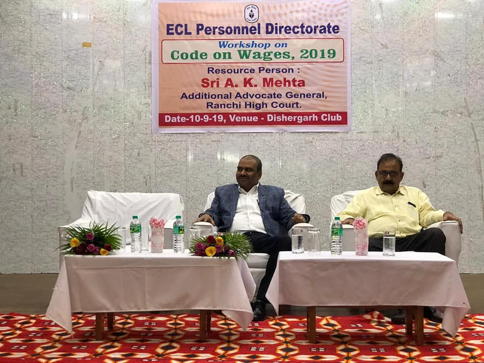 ECL organised Workshop on Code On Wages 2019